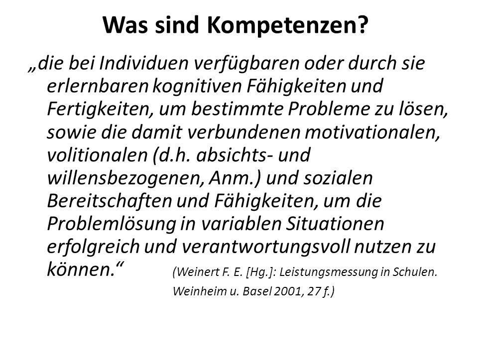 2.Auswirkungen auf den kompetenzorientierten Unterricht Was ist kompetenzorientierter Unterricht.