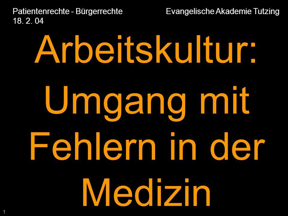 1 Patientenrechte - Bürgerrechte Evangelische Akademie Tutzing 18.