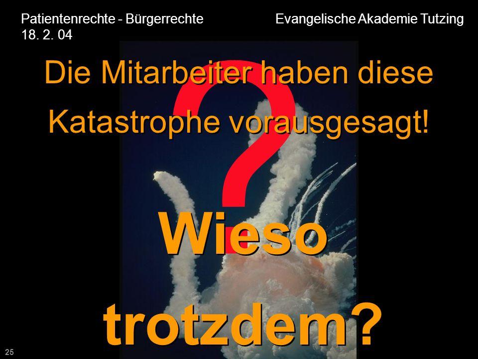25 Patientenrechte - Bürgerrechte Evangelische Akademie Tutzing 18.