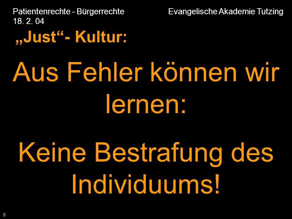 8 Patientenrechte - Bürgerrechte Evangelische Akademie Tutzing 18.