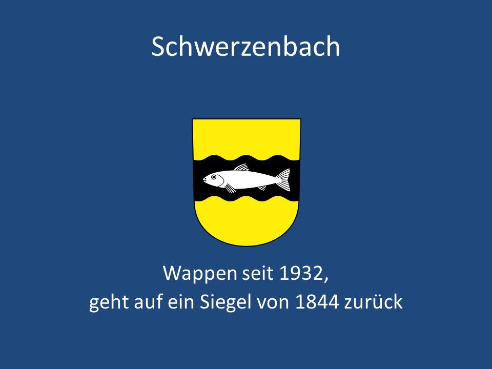 Schwerzenbach Wappen seit 1932, geht auf ein Siegel von 1844 zurück