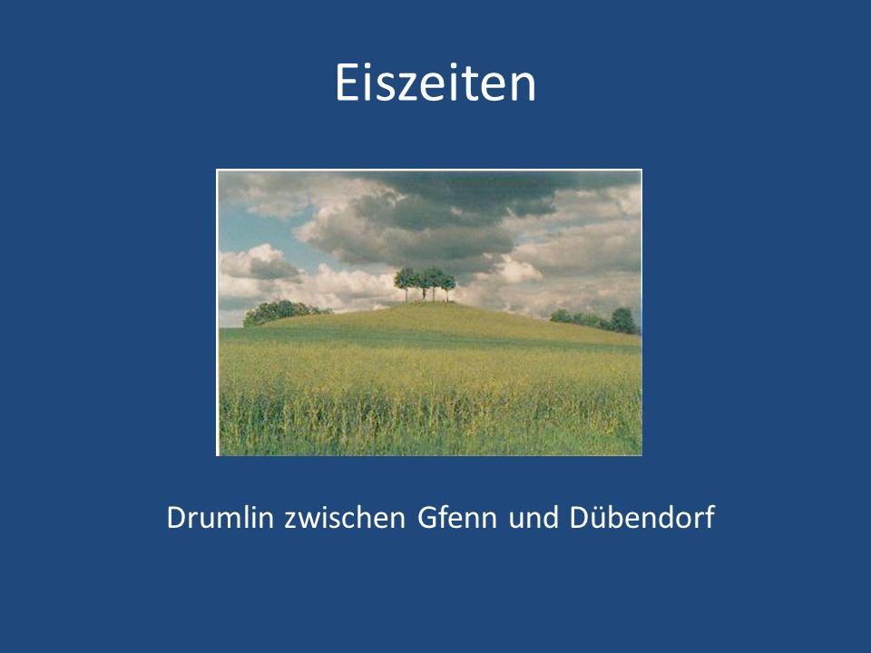 Eiszeiten Drumlin zwischen Gfenn und Dübendorf