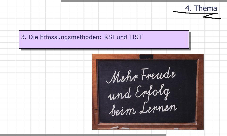 4. Thema 3. Die Erfassungsmethoden: KSI und LIST