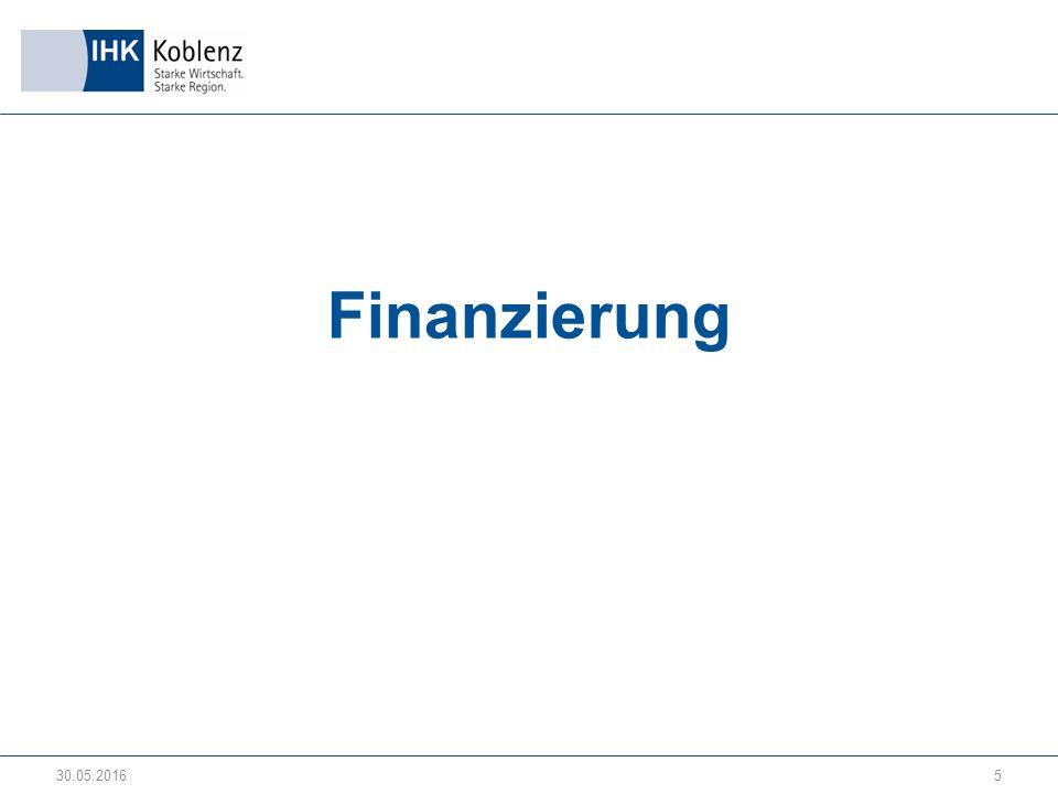 Finanzierung 30.05.20165