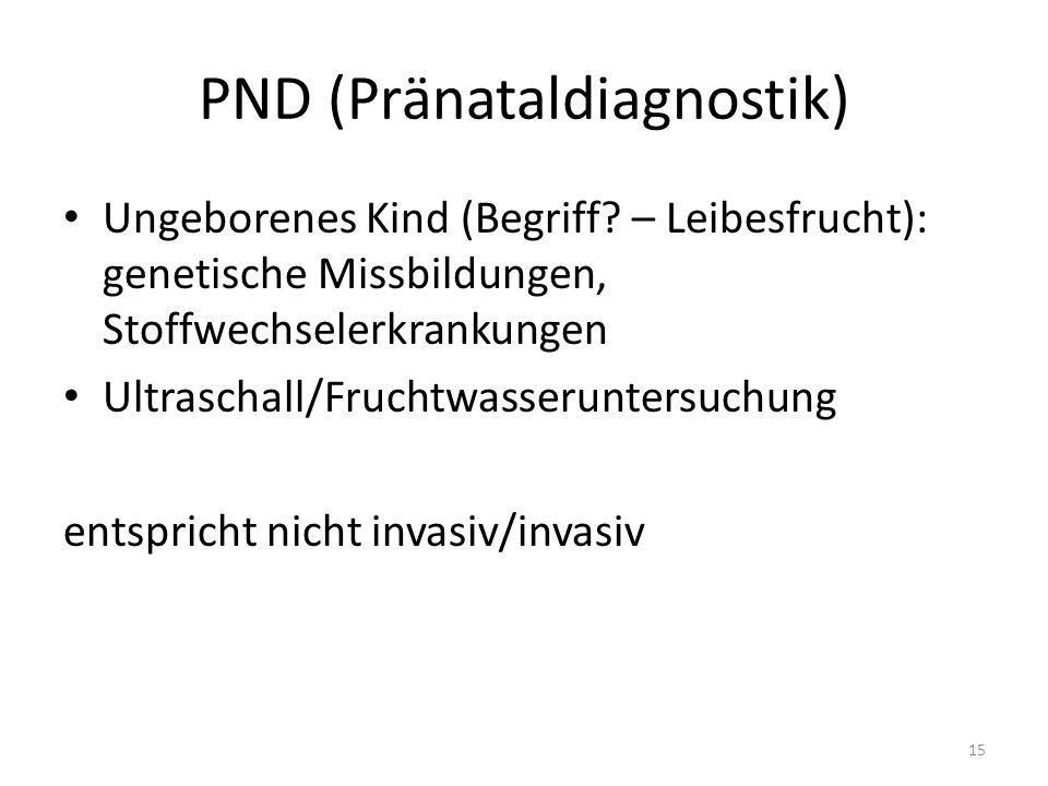 PND (Pränataldiagnostik) Ungeborenes Kind (Begriff.