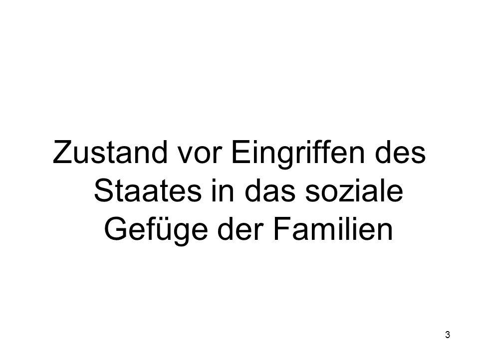3 Zustand vor Eingriffen des Staates in das soziale Gefüge der Familien