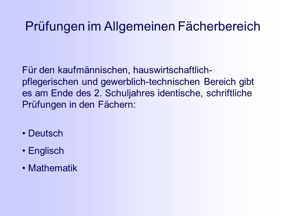 Einheitlicher Lehrplan für alle Bereiche bzw.
