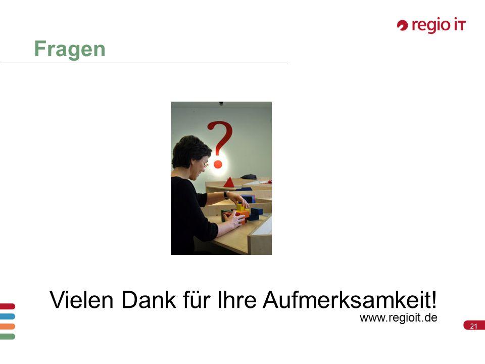 21 Vielen Dank für Ihre Aufmerksamkeit! www.regioit.de Fragen