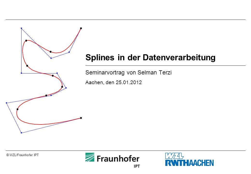 © WZL/Fraunhofer IPT Splines in der Datenverarbeitung Seminarvortrag von Selman Terzi Aachen, den 25.01.2012