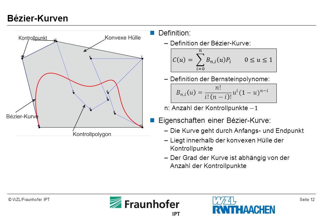 Seite 12© WZL/Fraunhofer IPT Bézier-Kurven