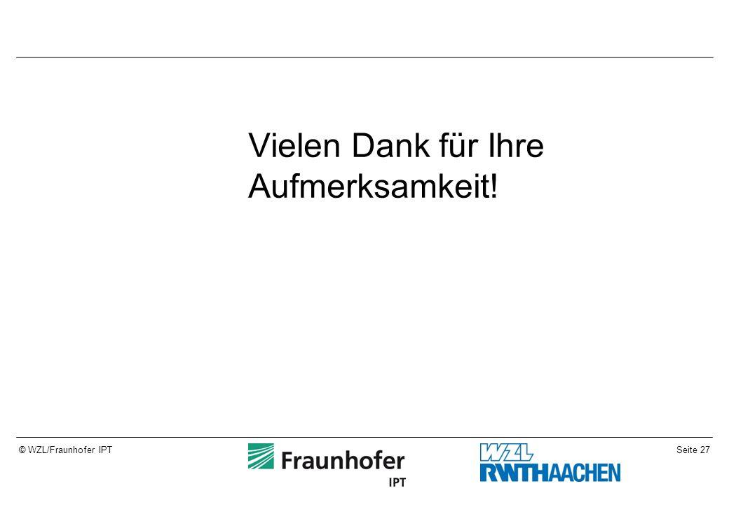 Seite 27© WZL/Fraunhofer IPT Vielen Dank für Ihre Aufmerksamkeit!