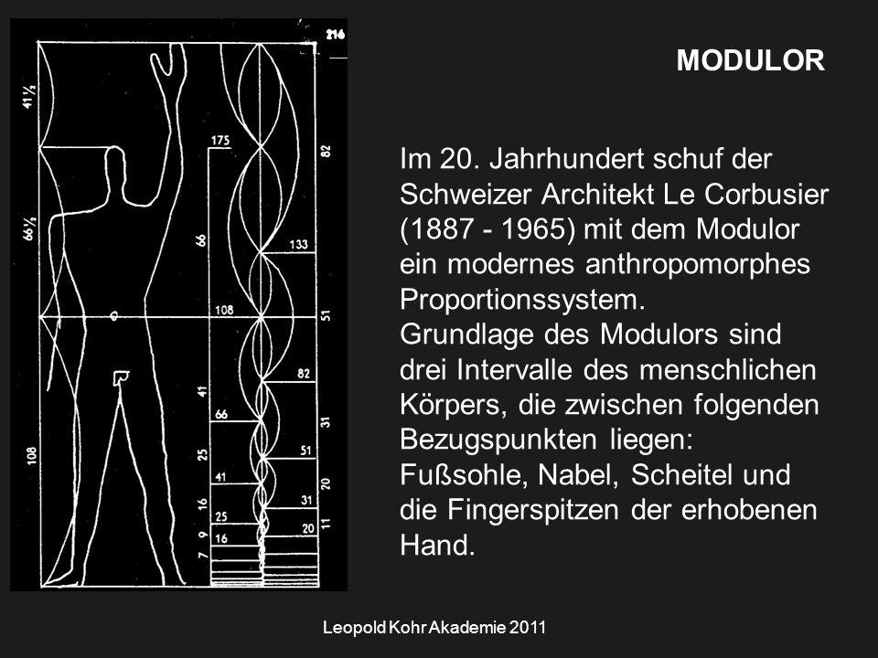 Leopold Kohr Akademie 2011 MODULOR Im 20.