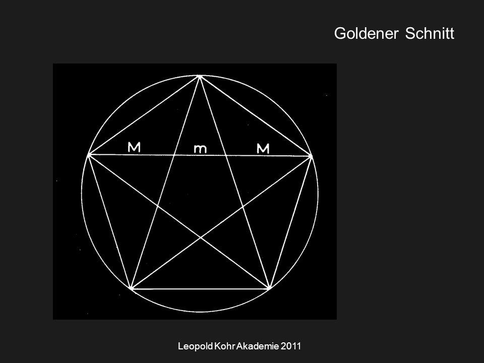 Leopold Kohr Akademie 2011 Goldener Schnitt