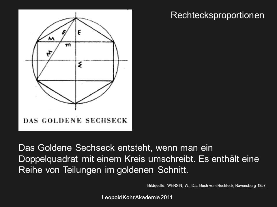 Leopold Kohr Akademie 2011 Bildquelle: WERSIN, W., Das Buch vom Rechteck, Ravensburg 1957.