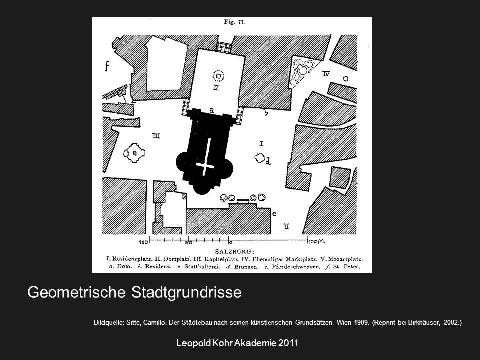 Leopold Kohr Akademie 2011 Bildquelle: Sitte, Camillo, Der Städtebau nach seinen künstlerischen Grundsätzen, Wien 1909.