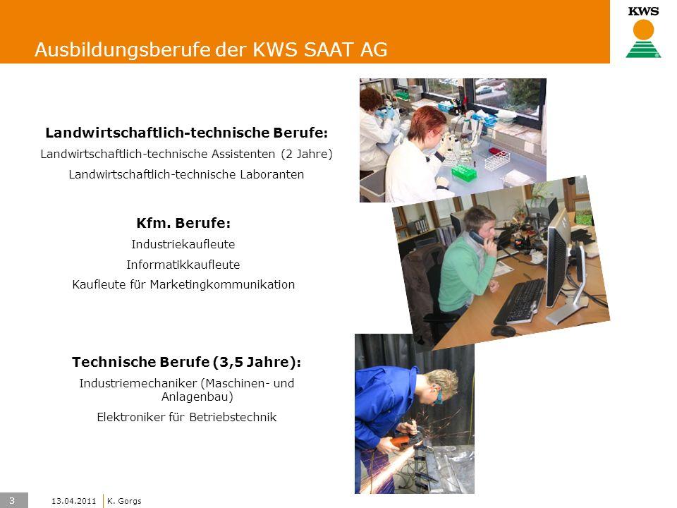 4 KWS UK-LT/HO K. Gorgs 13.04.2011 Auswahlverfahren