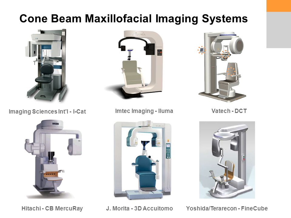Cone Beam Maxillofacial Imaging Systems Imaging Sciences Int'l - I-Cat Imtec Imaging - Iluma Hitachi - CB MercuRayJ.