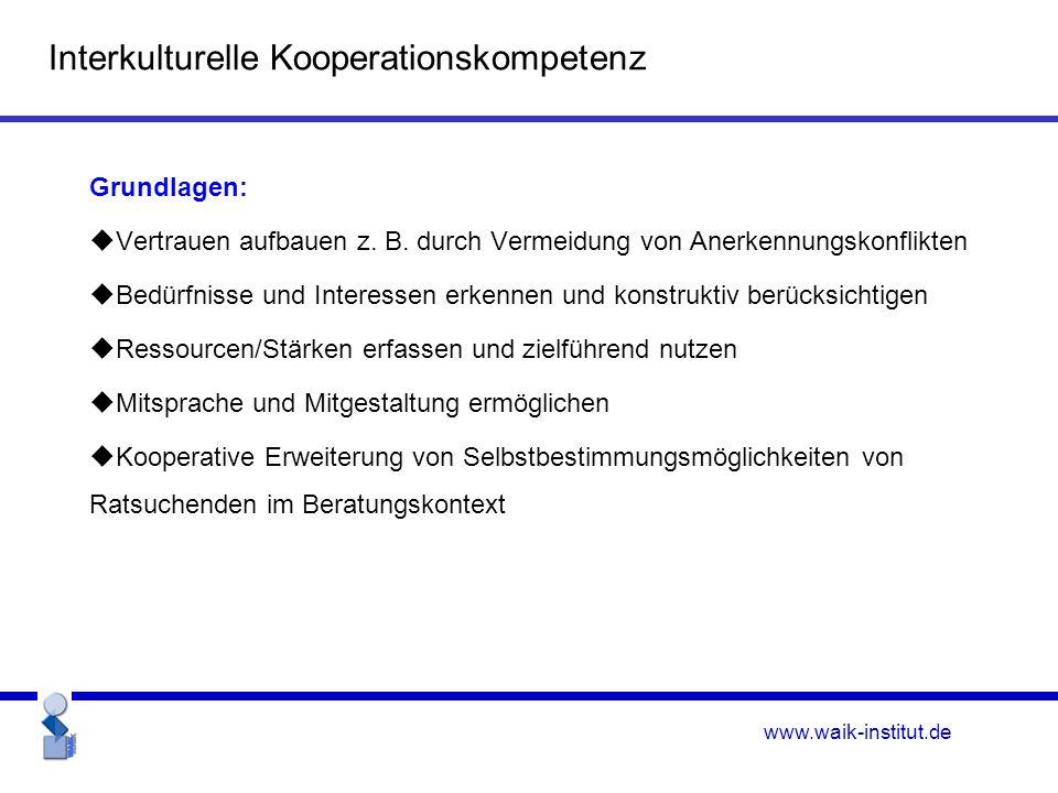 www.waik-institut.de Grundlagen:  Vertrauen aufbauen z.