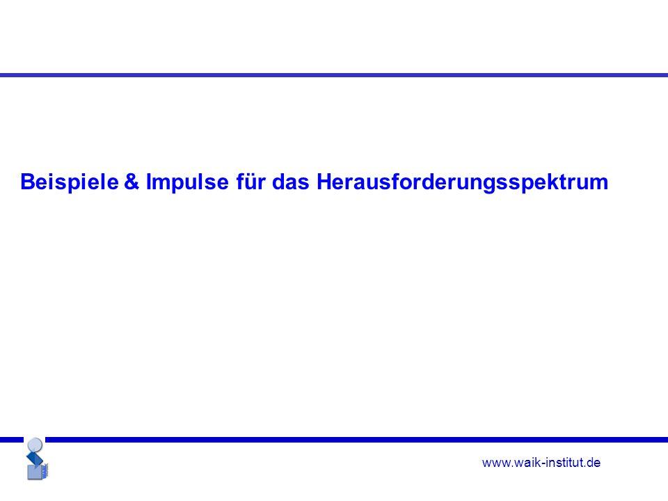 www.waik-institut.de Beispiele & Impulse für das Herausforderungsspektrum
