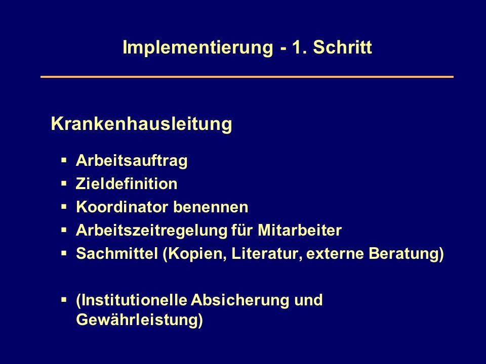 Implementierung - 1.