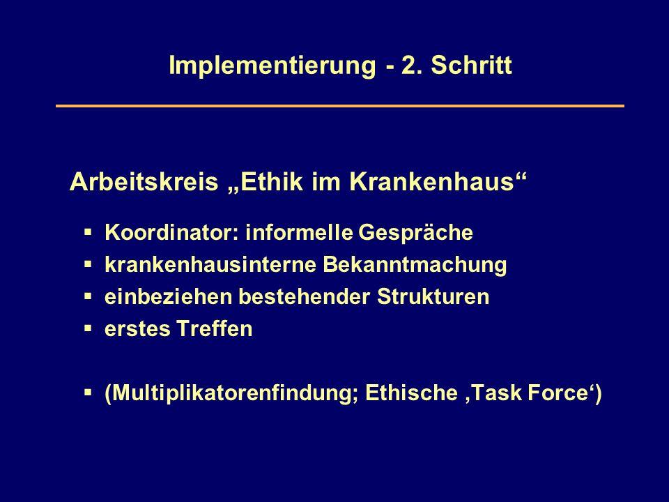 Implementierung - 2.