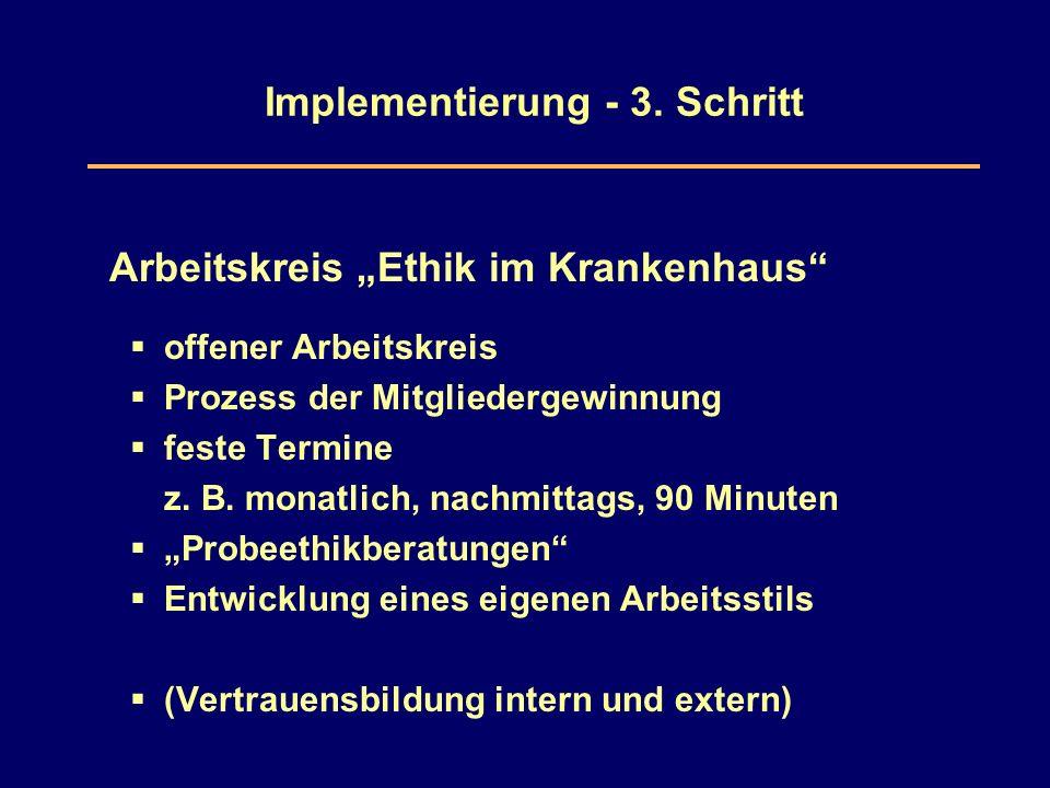 Implementierung - 3.
