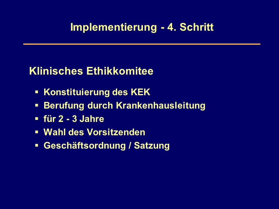 Implementierung - 4.