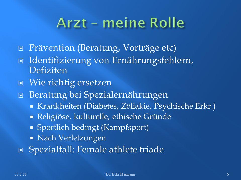 Normale Mahlzeiten Zwischenmahlzeiten 22.2.16Dr. Ecki Hermann17