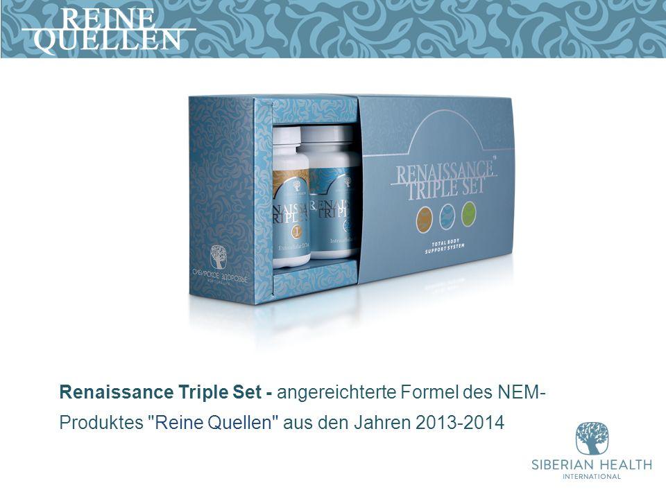 Renaissance Triple Set - angereichterte Formel des NEM- Produktes Reine Quellen aus den Jahren 2013-2014