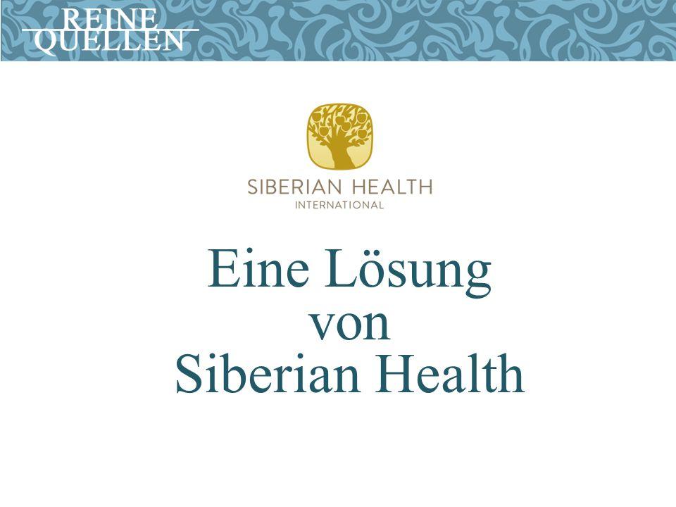 Eine Lösung von Siberian Health