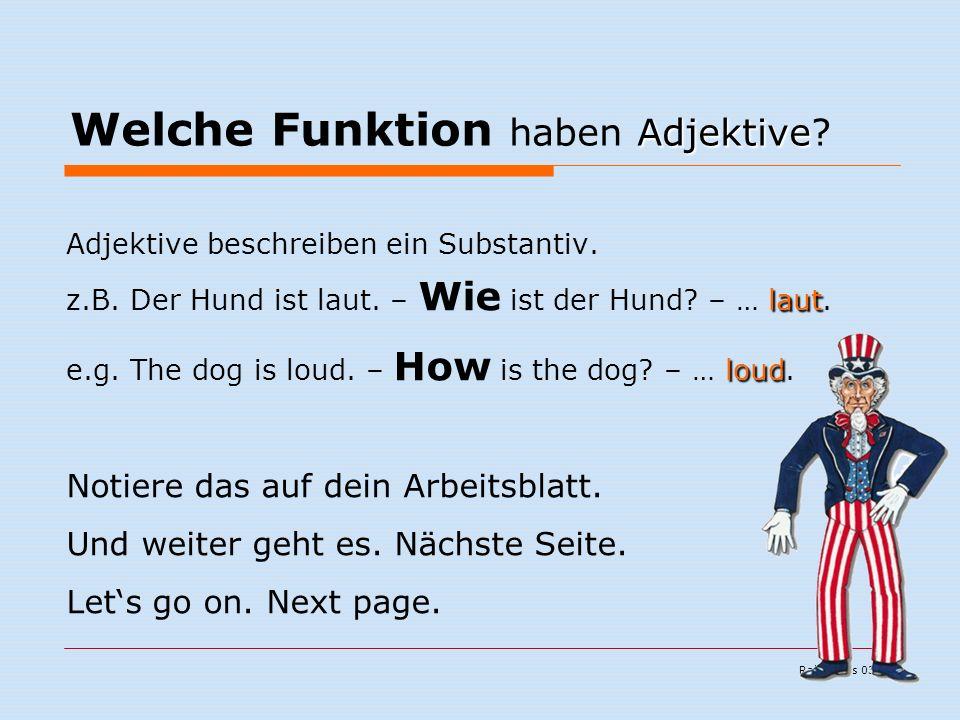 Ralf Kuchs 03/06 Adjektive Welche Funktion haben Adjektive.