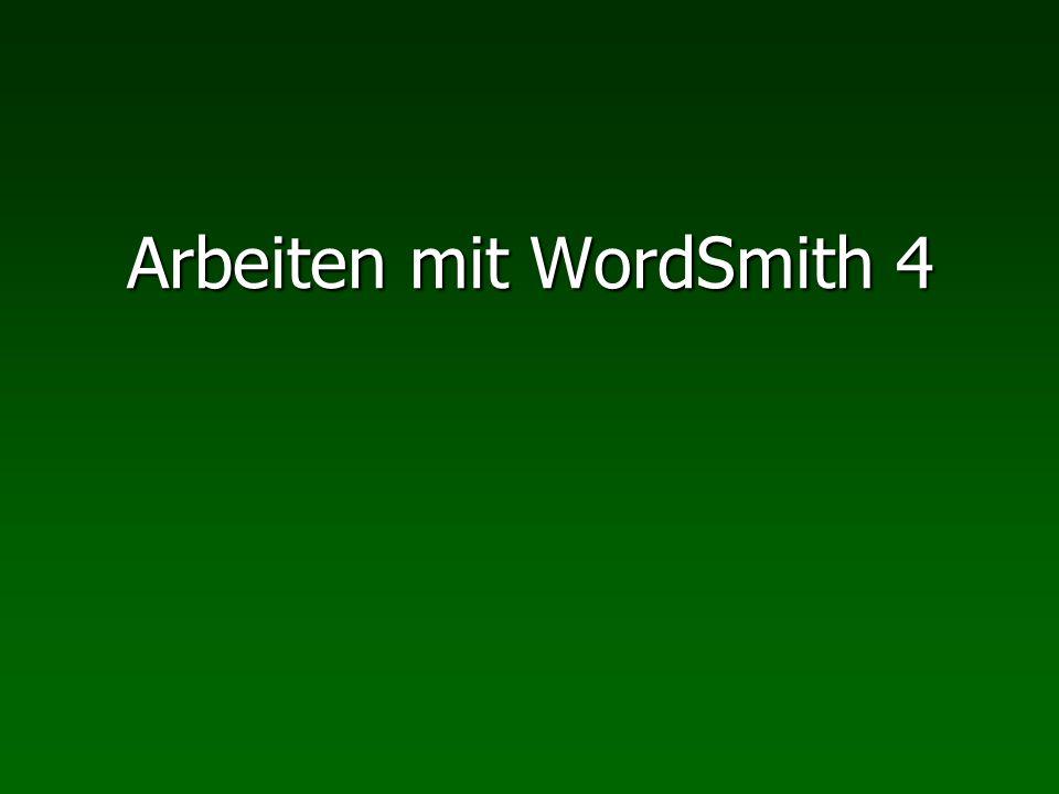 Arbeiten mit WordSmith 4