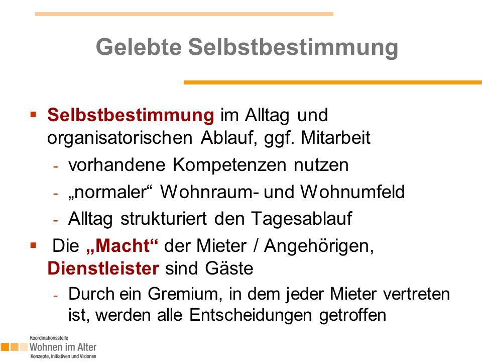 Auswahl an Fördermöglichkeiten  Bayerisches Staatsministerium für Arbeit und Sozialordnung, Familie und Frauen - Förderrichtlinie neues Seniorenwohnen (SeniWoF) - E-Mail: monika.haertl@stmas.bayern.de  Bayerisches Staatsministerium des Inneren - Bayerisches Wohnungsbau- und Zinsverbilligungsprogramm Anpassung von Wohnraum an die Belange von Menschen mit Behinderung - E-Mail: poststelle@stmi.bayern.de  Bayerische Landesstiftung - Förderung von Projekten, mit sozialen und/oder kulturellen Bezug und gleichzeitig gemeinnützigen und mildtätigen Zwecken - E-Mail: landesstiftung@bls.bayern.de  KDA / DHW: - Für gemeinnützige und mildtätige Zwecke (gemeinnützige Träger) - http://kda.de/foerdermittel.htm