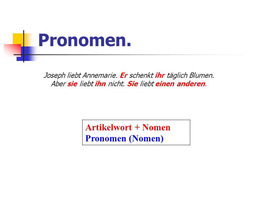 Pronomen 1.Personalpronomen 2. Demonstrativpronomen 3.
