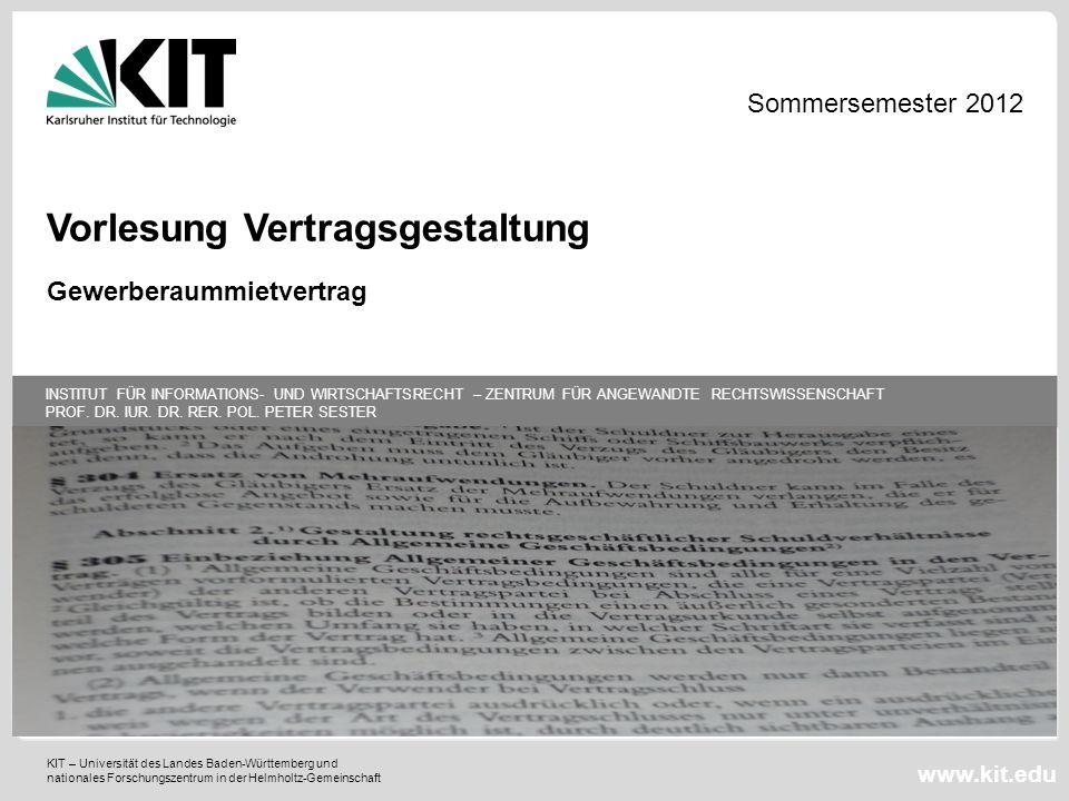 KIT – Universität des Landes Baden-Württemberg und nationales Forschungszentrum in der Helmholtz-Gemeinschaft INSTITUT FÜR INFORMATIONS- UND WIRTSCHAF