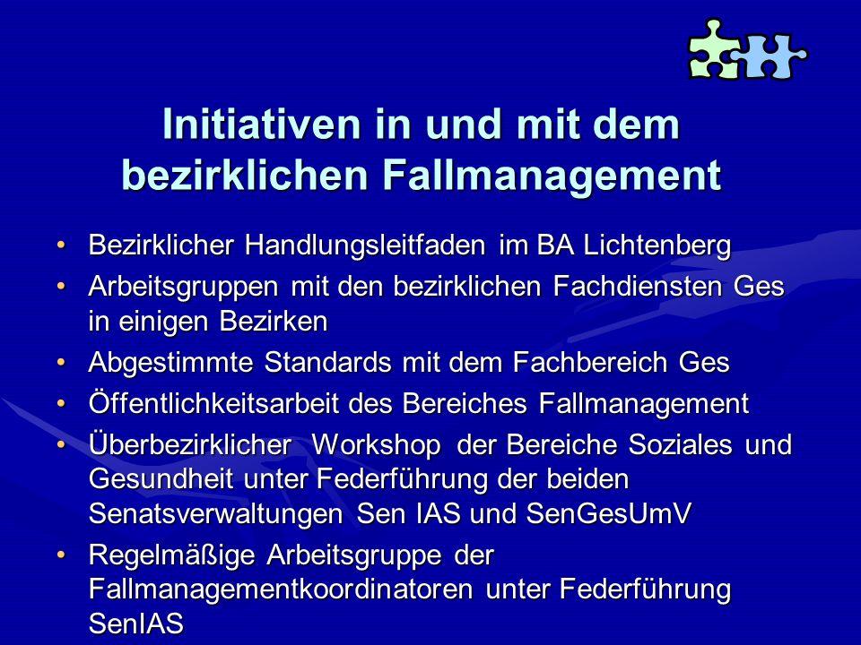 Initiativen in und mit dem bezirklichen Fallmanagement Bezirklicher Handlungsleitfaden im BA LichtenbergBezirklicher Handlungsleitfaden im BA Lichtenb