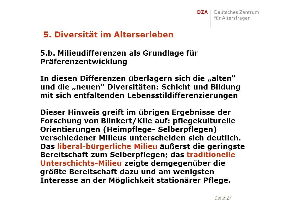 Seite 27 5. Diversität im Alterserleben 5.b.