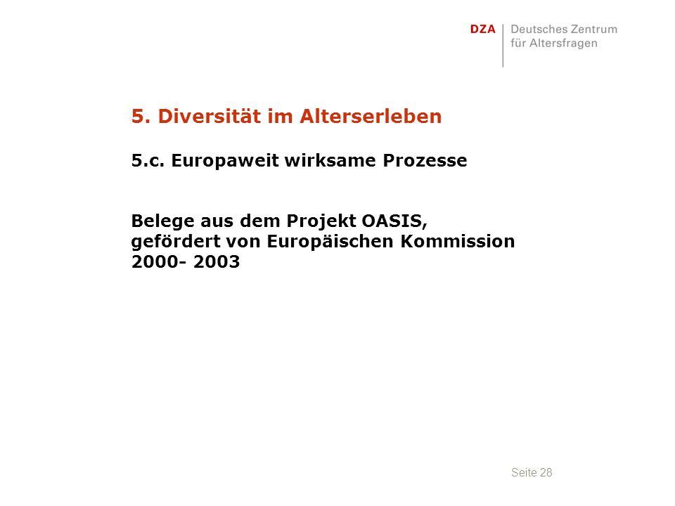 Seite 28 5. Diversität im Alterserleben 5.c.