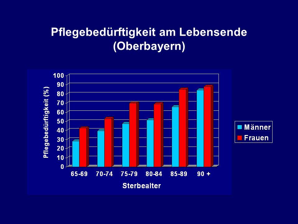 Pflegebedürftigkeit am Lebensende (Oberbayern)