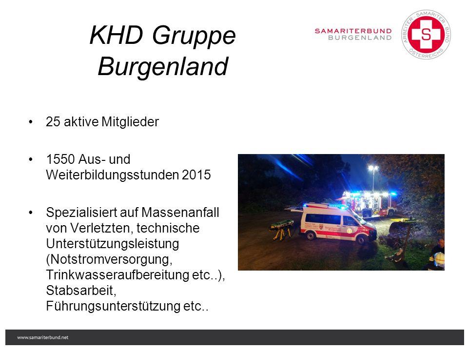 25 aktive Mitglieder 1550 Aus- und Weiterbildungsstunden 2015 Spezialisiert auf Massenanfall von Verletzten, technische Unterstützungsleistung (Notstr