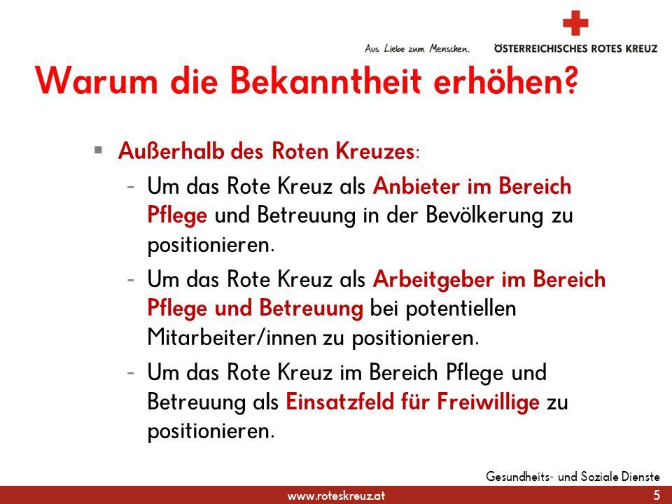 www.roteskreuz.at Warum die Bekanntheit erhöhen.