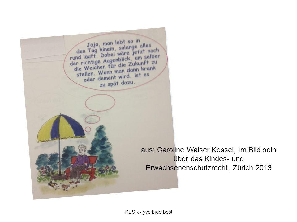 aus: Caroline Walser Kessel, Im Bild sein über das Kindes- und Erwachsenenschutzrecht, Zürich 2013