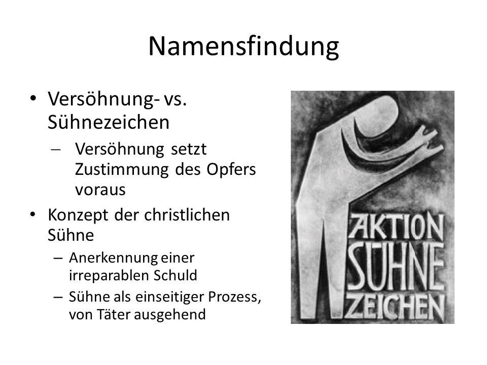 Namensfindung Versöhnung- vs.