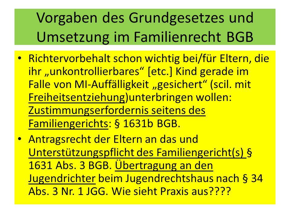 """Gerichtliche Maßnahmen bei """"Gefährdung des Kindeswohls : hier """"Personensorge-Maßnahmen zur """"Gefahrenabwehr § 1666 Abs."""
