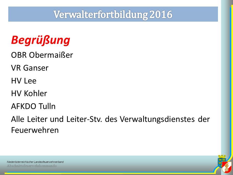Niederösterreichischer Landesfeuerwehrverband Abschnittsfeuerwehrkommando §12 Aberkennung Ehrendienstgrad od.