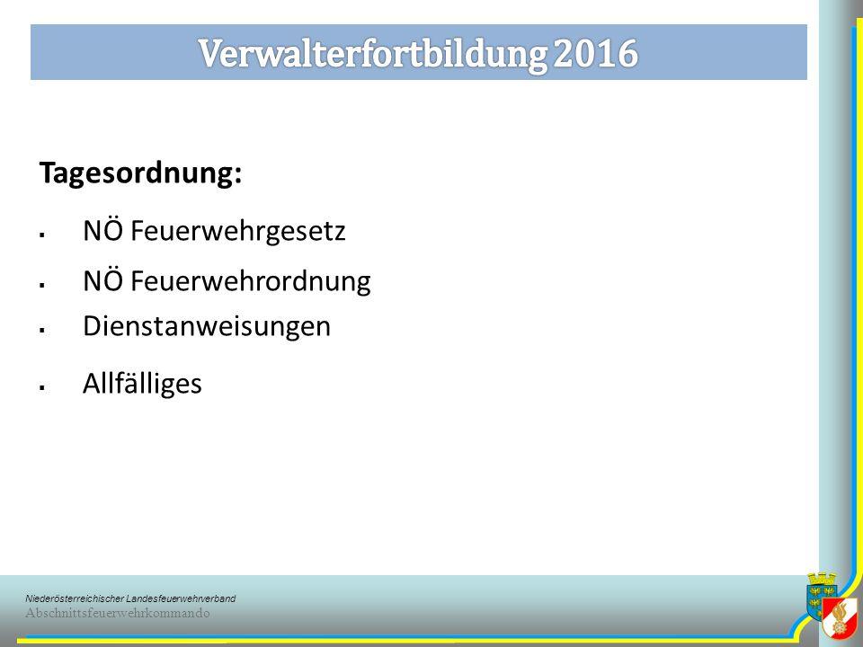 Niederösterreichischer Landesfeuerwehrverband Abschnittsfeuerwehrkommando www.noelfv.noe122.atwww.noelfv.noe122.at – Infoservice – Rechtliche Bestimmungen 1.1.4 Dienstpostenplan 1.1.5 Sachgebiete und Sachbearbeiter 1.1.6 Ernennung u.