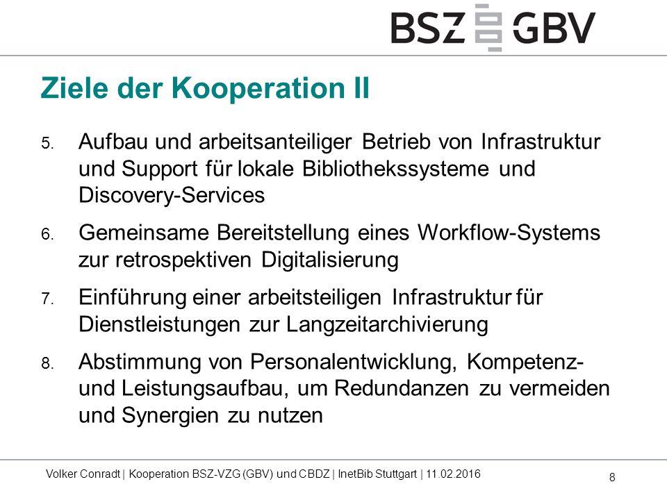8 5. Aufbau und arbeitsanteiliger Betrieb von Infrastruktur und Support für lokale Bibliothekssysteme und Discovery-Services 6. Gemeinsame Bereitstell