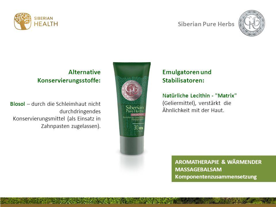 Siberian Pure Herbs Emulgatoren und Stabilisatoren: Natürliche Lecithin -