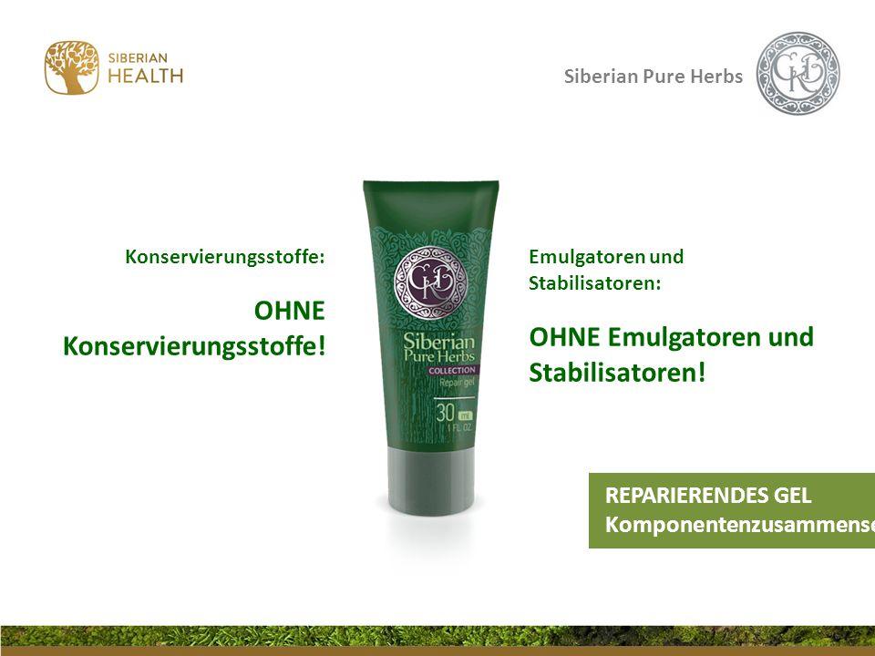 Siberian Pure Herbs Konservierungsstoffe: OHNE Konservierungsstoffe! Emulgatoren und Stabilisatoren: OHNE Emulgatoren und Stabilisatoren! REPARIERENDE