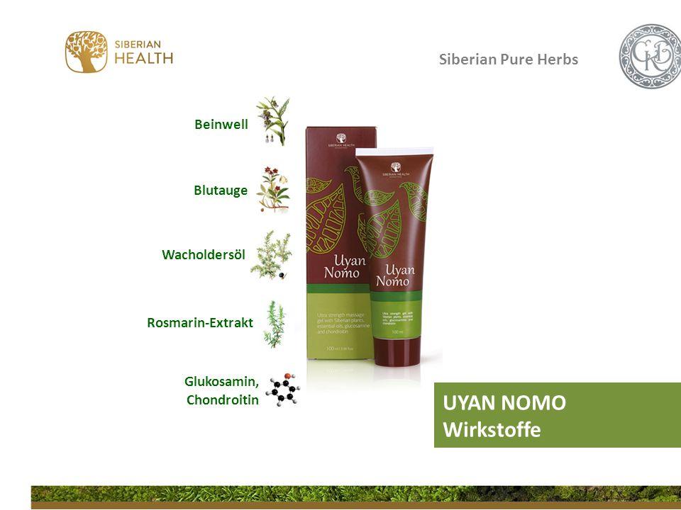 Siberian Pure Herbs UYAN NOMO Wirkstoffe Beinwell Blutauge Wacholdersöl Glukosamin, Chondroitin Rosmarin-Extrakt